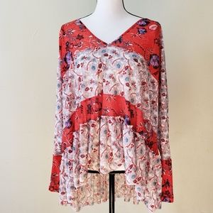 Free People Isabelle Floral Swing Top